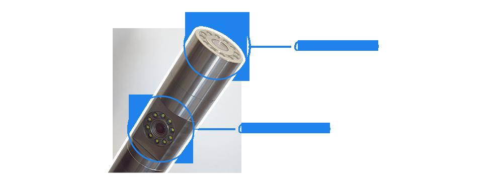 Caméra à double visée - Caméra de forage