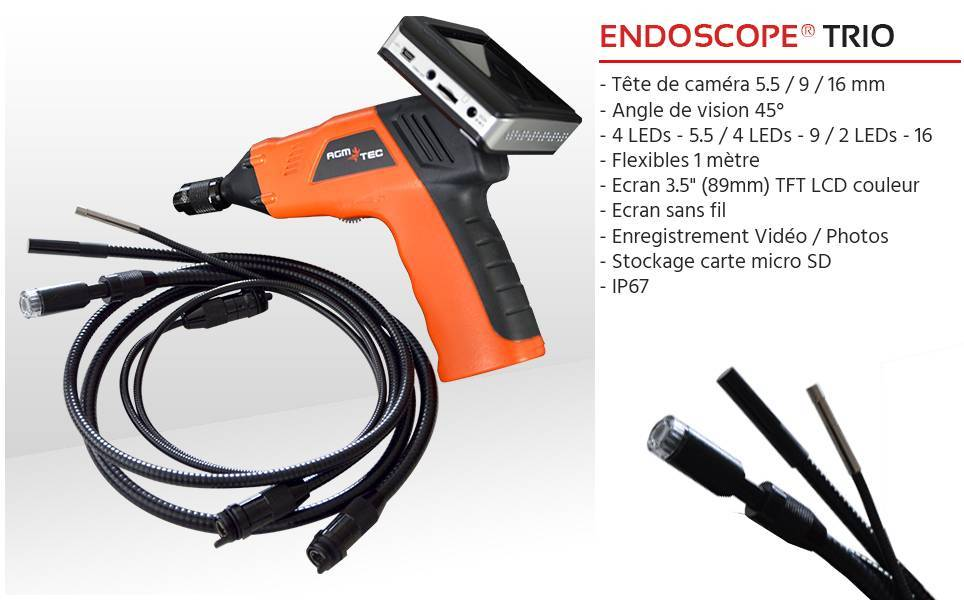 Endoscope industriel en location pour une durée courte ou longue – AGM TEC
