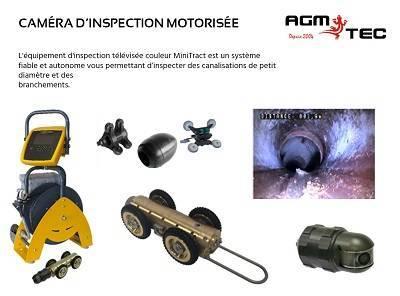 Chariot motorisé d'inspection de canalisations itv