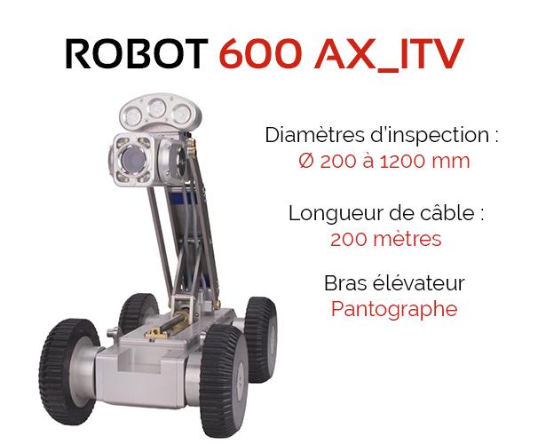 chariot motorisé d'inspection vidéo