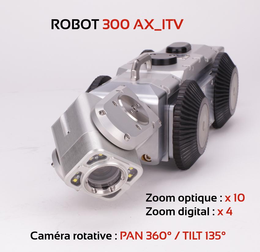 Chariot motorisé d'inspection vidéopourprofessionnelle-AGM TEC